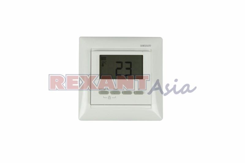 Терморегулятор цифровой REXANT RX-511H, белый, совместим с Legrand серии Valena, (51-0566 )
