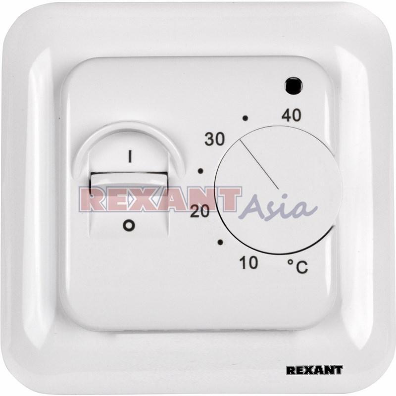 Терморегулятор механический с датчиком температуры пола (R70XT) REXANT, (51-0531 )