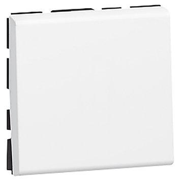 Выключатель 10а (2 Модуля) Mosaic белый
