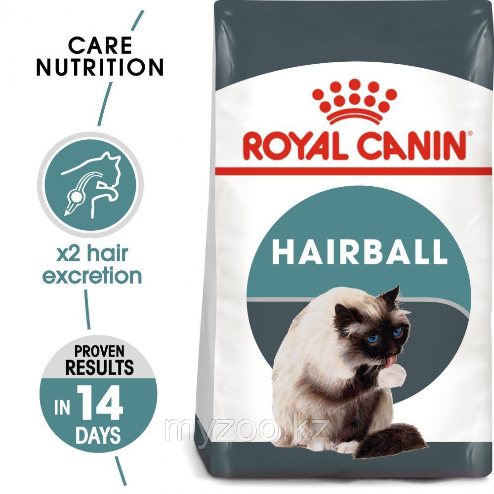 Корм для кошек профилактика вывода комочков Royal Canin HAIRBALL CARE 400g.