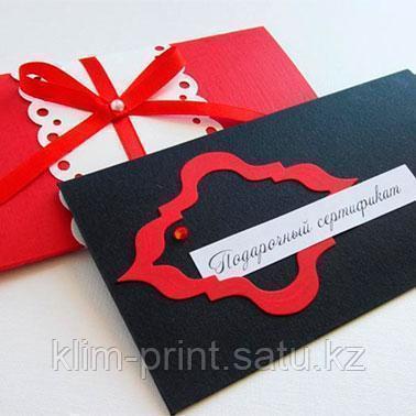 Дизайн сертификатов в Алматы+печать сертификатов в Алматы