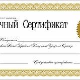 Дизайн сертификатов в Алматы+печать сертификатов в Алматы, фото 4