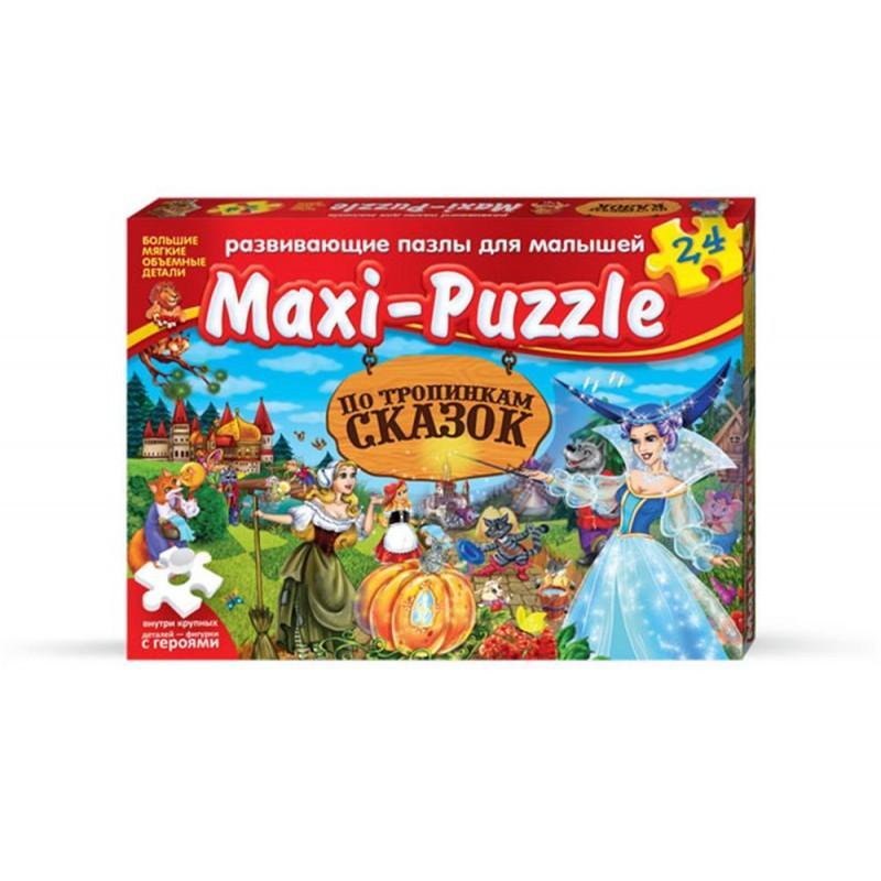 Развивающие пазлы для малышей Maxi-Puzzle «По тропинкам сказок» №2