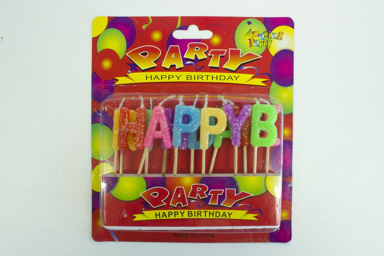 "Свечи для торта набор букв ""Party"""
