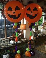 Стойки из шаров на Halloween