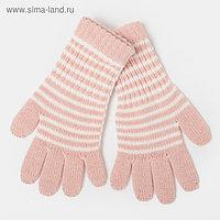 Перчатки для девочки удлинённые, розовый, размер 16