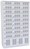Шкаф металлический абонентский 29 ячеек (1160х400х1870) арт. ША 27/2