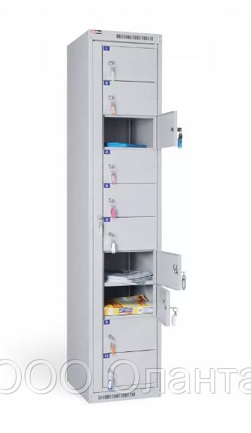 Шкаф металлический абонентский 10 ячеек разборный (380х450х1820) арт. АС 1010