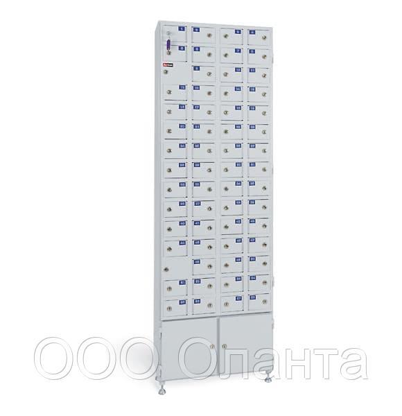 Шкаф металлический абонентский 60 ячеек (600х260х1830) арт. АС 1058