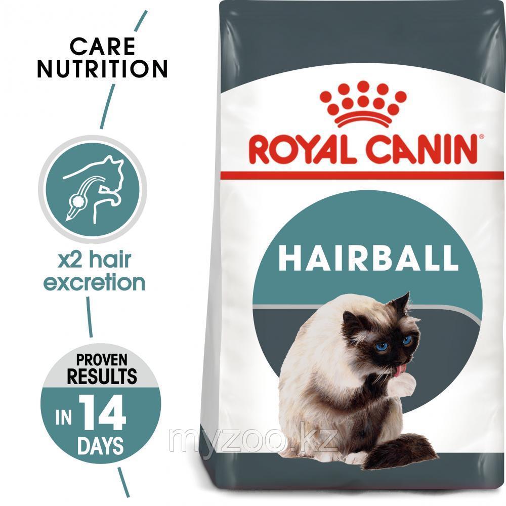 Корм для кошек профилактика вывода комочков Royal Canin HAIRBALL CARE 2kg.