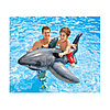 Надувная игрушка Intex Белая акула, 1 место Возрост: От 3 лет, Нагрузка: 55кг, Винил, Цвет: Серебристый, фото 2