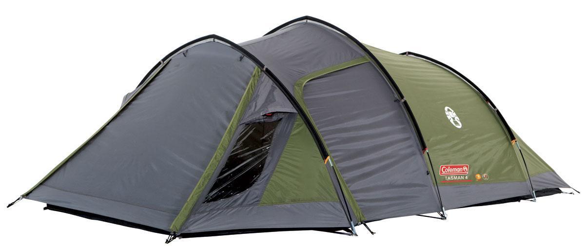Палатка трекинговый Coleman Tasman 4, Кол-во человек: 4, Входов/комнат: 2/1, Тамбуров: 1, Внутренняя палатка:
