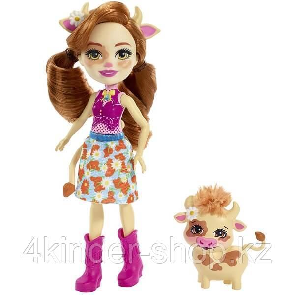 Mattel Enchantimals FXM77 Кукла с питомцем Коровка Кейли - фото 1