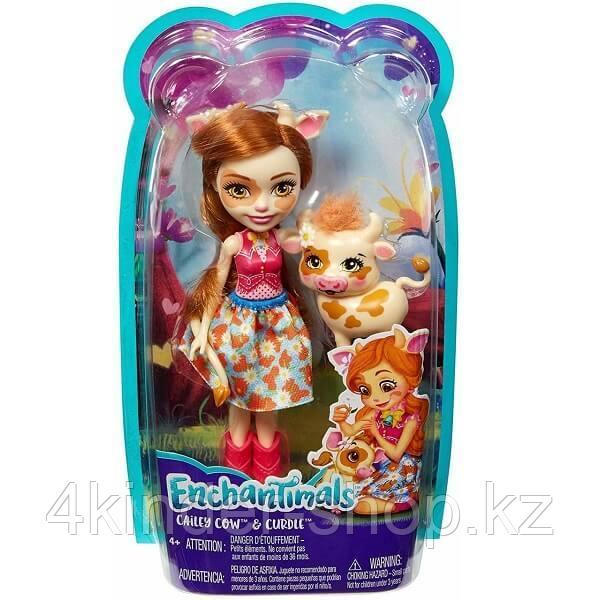 Mattel Enchantimals FXM77 Кукла с питомцем Коровка Кейли - фото 2