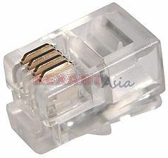Джек телефонный 4P4C (упак 100 шт), REXANT, (05-1001 )