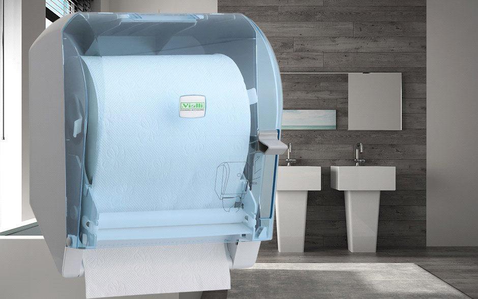 Диспенсер бумажных полотенец Levercut Roll (прозрачный)