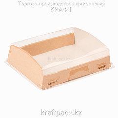 Эко-упаковка для кондитерских изделий с крышкой 1000мл 185*140*55 (Eco Opbox 1000) DoEco (200)