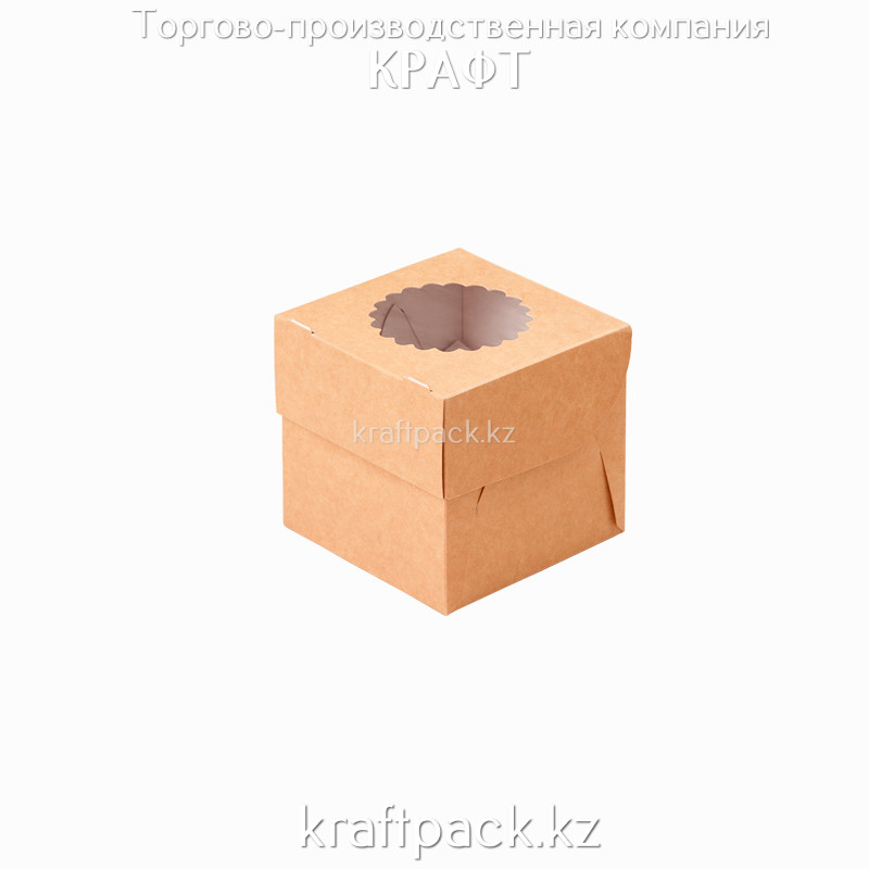 Упаковка для маффинов 100*100*100 1шт DoEco (50/250)