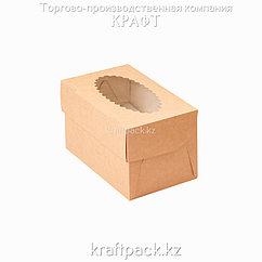 Упаковка для маффинов 100*160*100 2шт DoEco (50/200)