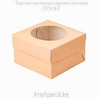 Эко-упаковка, для маффинов 4 штуки 160*160*100 DoEco (25/150)