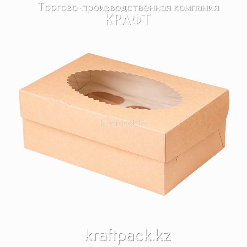 Эко-упаковка, для маффинов 6 штук 250*170*100 DoEco (25/150)