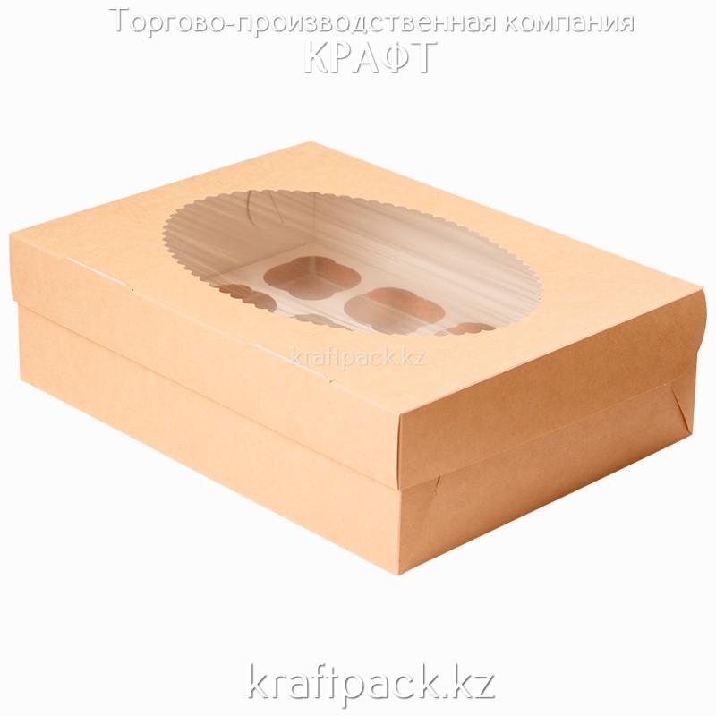 Эко-упаковка, для маффинов 12 штук 330*250*100 DoEco (25/100)
