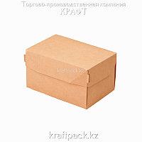 Эко-упаковка, коробка для кондитерских изделий 1200мл 150*100*85 (Eco Cake 1200) DoEco (50/250)
