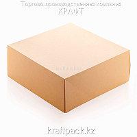 Эко-упаковка, крафт коробка для тортов 255*255*105 DoEco (15/75)