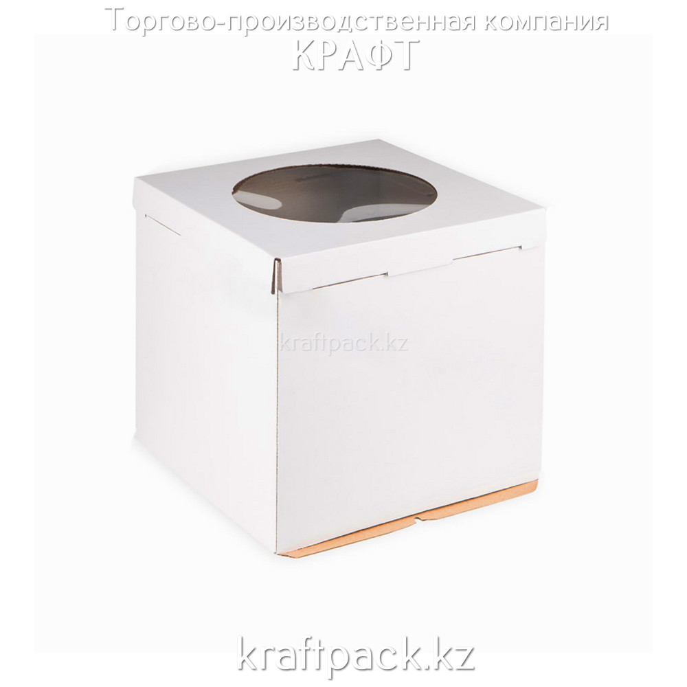 Короб картонный белый, с окном 300*300*300 Pasticciere (10шт/уп)