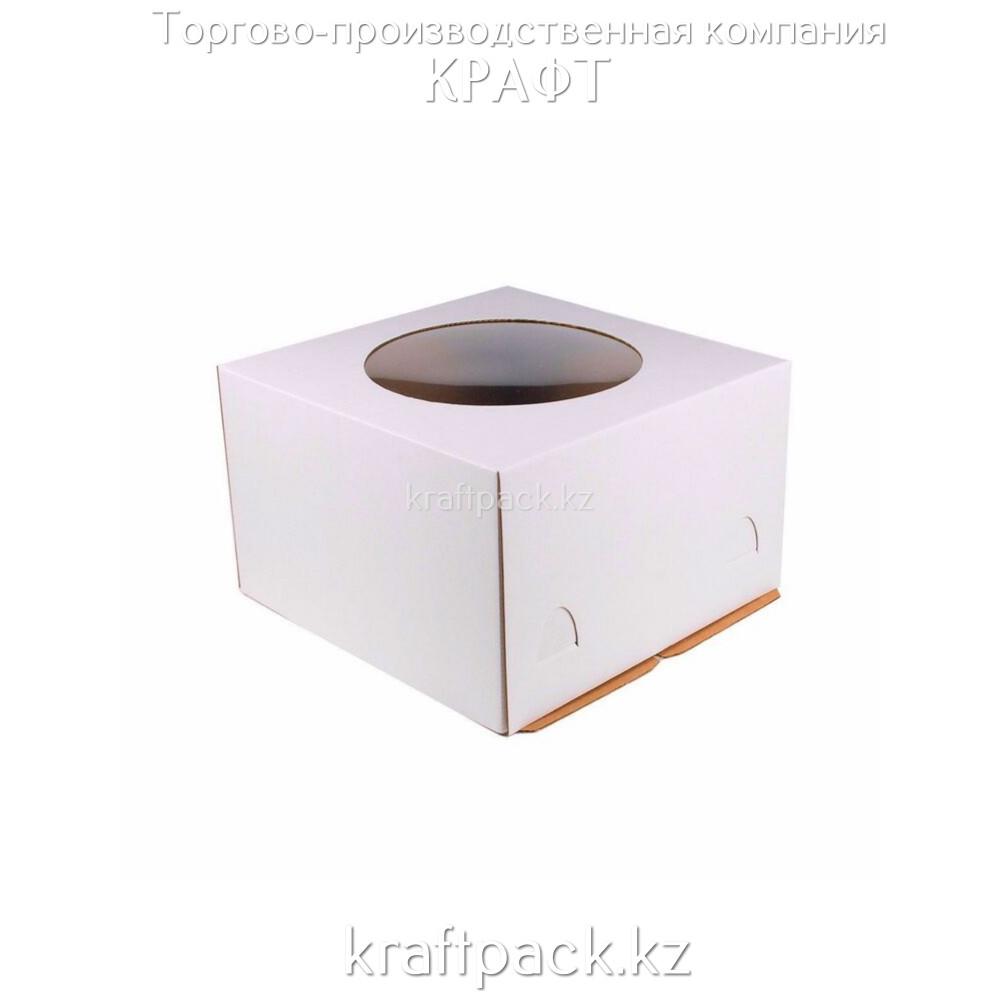 Короб картонный белый, с окном 300*300*190 Pasticciere (10шт/уп)
