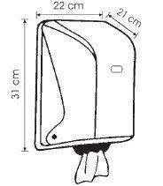 Диспенсер рулонов бумажных полотенец Centerfeed (прозрачный), фото 2