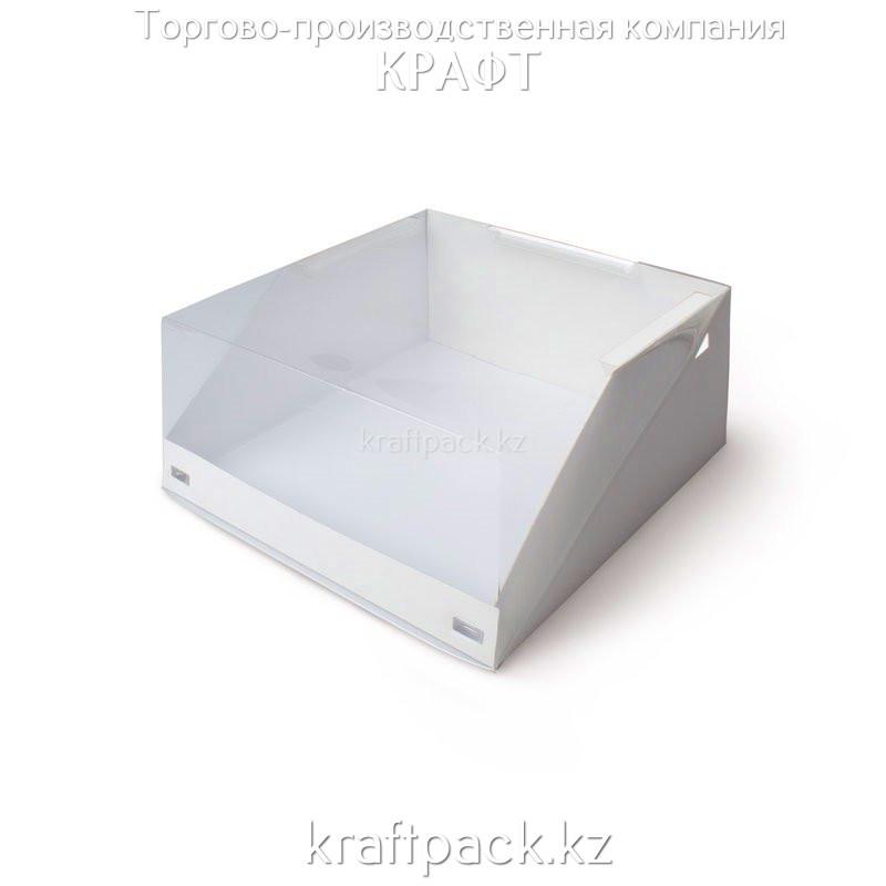 Pasticciere коробка для торта с прозрачной крышкой 225*225*110 (25/50)