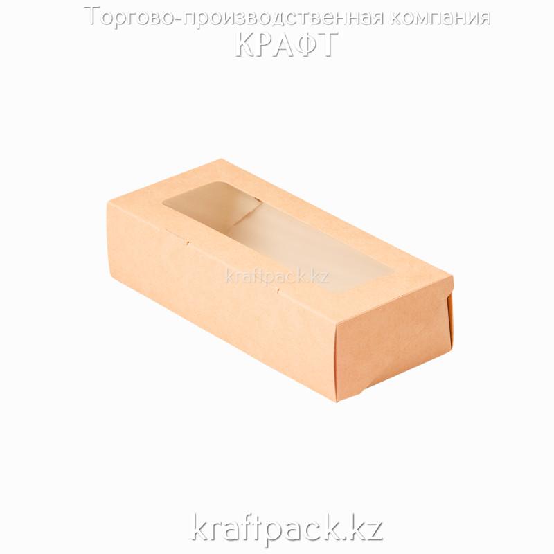 Коробка с окном 500мл 170*70*40 (Eco Tabox 500 GL) DoEco (100/400)