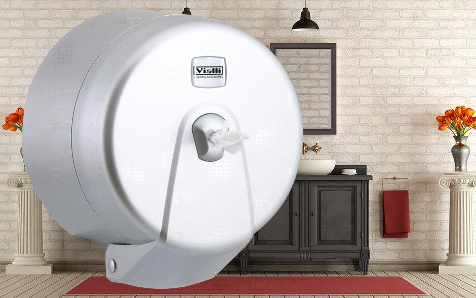 Диспенсер для туалетной бумаги Minipoint (металлик)