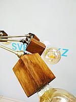 Люстра деревянная, фото 1