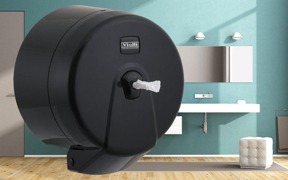 Диспенсер для туалетной бумаги Minipoint (черный)