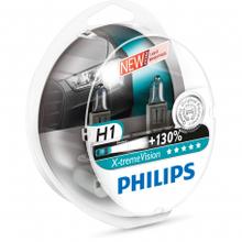 Галогеновая лампа H1 Philips X-treme Vision+130% 12V 3700K комплект 2 шт.