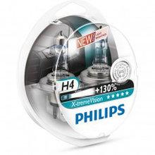 Галогеновая лампа H4 Philips X-treme Vision+130% 12V 3700K комплект 2 шт.