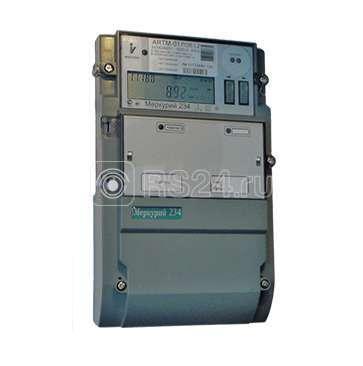 """Счетчик """"Меркурий"""" 234 ARTM-03 PB.G 5-10А 0.5/1.0 класс точности; многотарифный; оптопорт GSM RS485 винт (московское время)"""