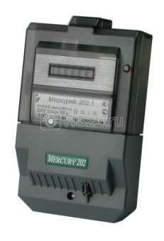 "Счетчик ""Меркурий"" 202.5 5-60А 1 класс точности; на 1 тариф; на щит. имп. вых."