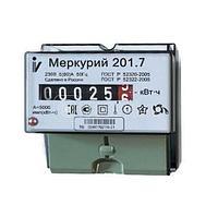 """Счетчик """"Меркурий"""" 201.7 5-60А 1 класс точности; на 1 тариф; DIN-рейка"""