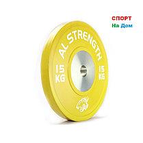 Соревновательный блины для штанги AL STRENGTH 25 кг, фото 3