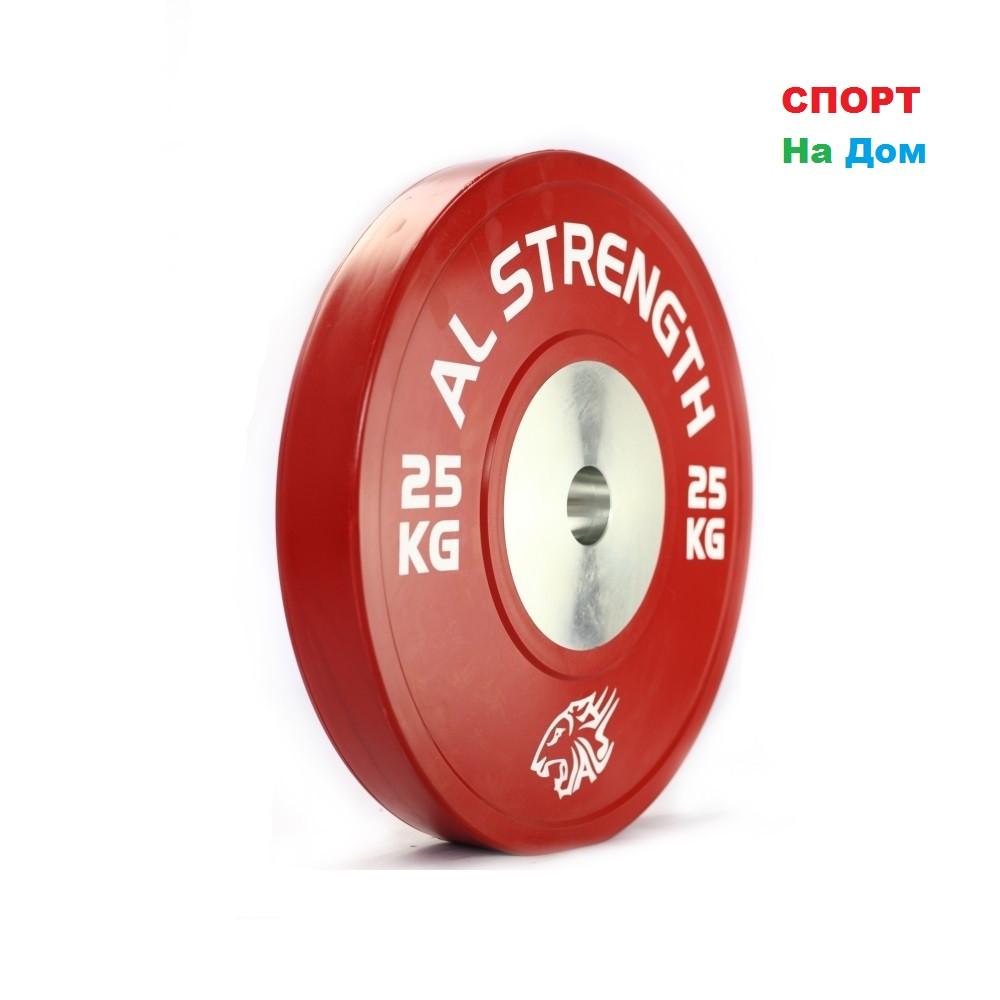 Соревновательный блины для штанги AL STRENGTH 25 кг