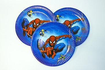 """Одноразовые тарелки d=18 см """"Человек-паук"""""""