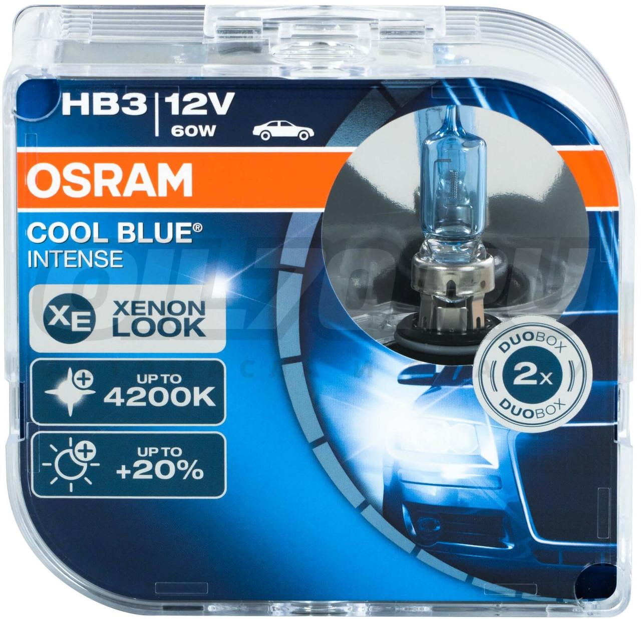 Галогеновая лампа Osram HB3 Cool Blue Intense (+20%) - 9005CBI-HCB  4200К комплект 2 шт.