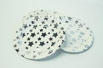 "Одноразовые тарелки d=18 ""Звёзды"""