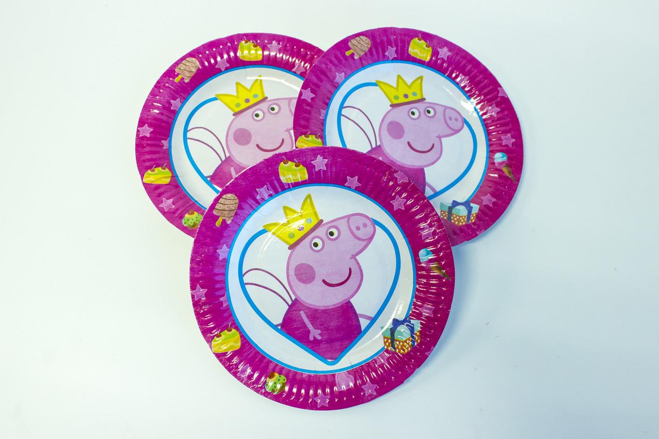 "Одноразовые тарелки d=18 ""Свинка Пеппа"""