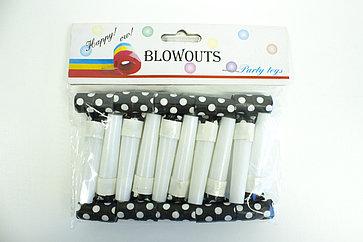 """Дудки-язычки """"Blowouts"""" черно-белые"""