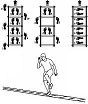 Координационная лестница для футбольной тренировки, развития скорости 10 метров, фото 2