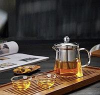 Квадратный заварочный чайник 700 мл, фото 1
